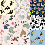 Set of children's backgrounds. Royalty Free Stock Photo