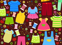 Set of children's clothes Royalty Free Stock Images