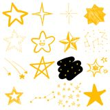 Children`s drawings of stars Royalty Free Stock Photos