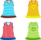 Set of children's dress. Vector illustration Royalty Free Stock Photos