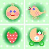 Set of children's icons Royalty Free Stock Photo