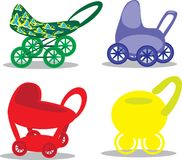 Set children's prams Royalty Free Stock Photography