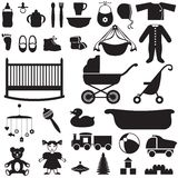 Set of children's things Royalty Free Stock Photos