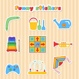 Set of children stikers Royalty Free Stock Images