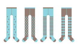 Set of children tights. Boy designs. Vector Royalty Free Stock Photo