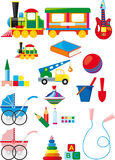 Set of children toys Stock Images