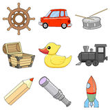 Set of children toys Royalty Free Stock Photos