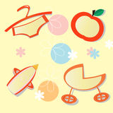 Set of childrens labels Stock Photography