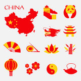 Set of China Infographic icons Royalty Free Stock Photography