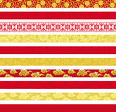 Set of Chinese decorative banners. Stock Image