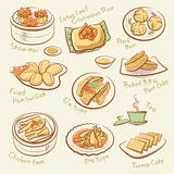 Set of chinese food. Royalty Free Stock Photo