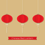 Set Of Chinese Red Lanterns Stock Image