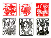 A set of Chinese Seals Royalty Free Stock Photos