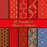 Set of Chinese seamless patterns Royalty Free Stock Image
