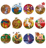 The set of  chinese sign of horoscope  Royalty Free Stock Image