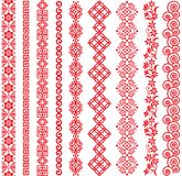 Set of Chinese style borders. Set of Chinese decorative borders. Vector illustrations Royalty Free Stock Photos