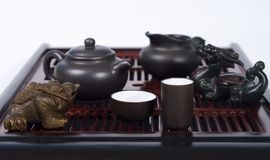 Set for chinese tea ceremony Stock Photos
