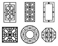 Set of Chinese window with pattern, vector Stock Photo