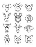 Set chinese zodiac animal icons Stock Image