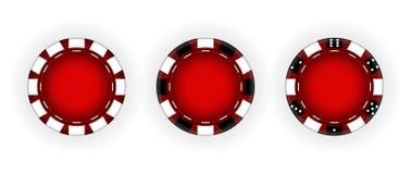 Set of Chips for the casino. Gambling. Vector  Illustration. EPS10 vector illustration