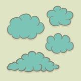 Set chmury Obrazy Royalty Free