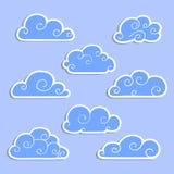 Set chmury dla projekta Fotografia Stock