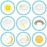 Set chmury i słońce royalty ilustracja