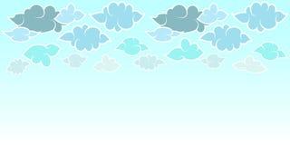 Set chmury w Japo?skim stylu i niebie P?askiego projekta horyzontalny t?o Wektorowa ilustracja dla projekta plakata, sztandar, ul ilustracji