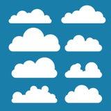 Set chmury w mieszkanie stylu ilustracja wektor