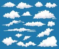 Set chmury z Różnym kształtem również zwrócić corel ilustracji wektora Zdjęcia Royalty Free