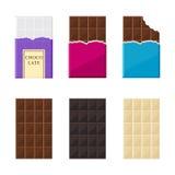 Set of chocolate bar Royalty Free Stock Photos