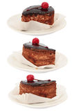 Set of chocolate cake Stock Images