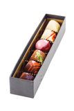 Set of chocolate candies in a box Royalty Free Stock Image