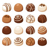 Set of chocolate candies. Vector illustration. Stock Images