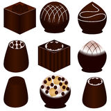 Set of chocolate candies. Royalty Free Stock Images