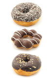 Set of chocolate donut on white Royalty Free Stock Photography