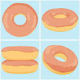 Set of chocolate donuts Royalty Free Stock Images