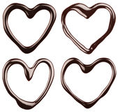 Set of chocolate hearts Royalty Free Stock Photos
