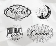 Set chocolate labels Stock Image