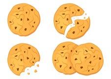 Chocolate oatmeal cookies. Vector illustration stock illustration