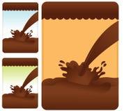 Set of chocolate splash Royalty Free Stock Image