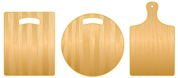 Set of chopping boards Stock Photography