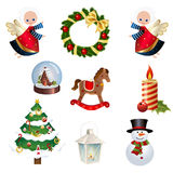 Set of Christams clipart Stock Photography