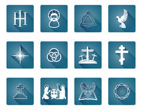 Set of Christian Icons Stock Photo