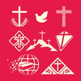 Set Christian logos Royalty Free Stock Photos