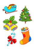 Set of Christmas 2 royalty free illustration