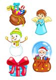 Set of Christmas 3 stock photos