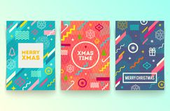 Set of Christmas abstract background Royalty Free Stock Images