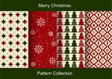 Set of Christmas abstract vector paper with Christmas symbols and design elements. Stock Photos