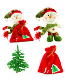 Set of Christmas accessories. Isolated on a white background Royalty Free Stock Photography